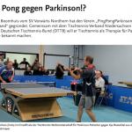 LSB Magazin, LandesSportBund Niedersachsen, Ausgabe 07 2020 (Seite 8 ff.)  | Ping Pong gegen Parkinson!?